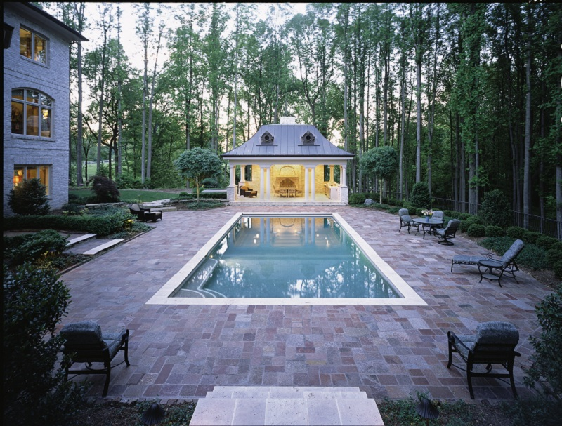 Rectangle pools town and country pools custom pool for Pool builders