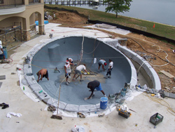 spill over spa, pool renovation
