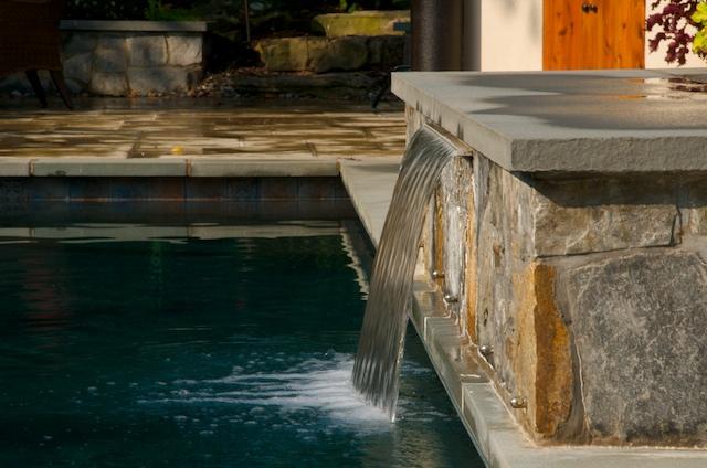 sheer descent inground pool design