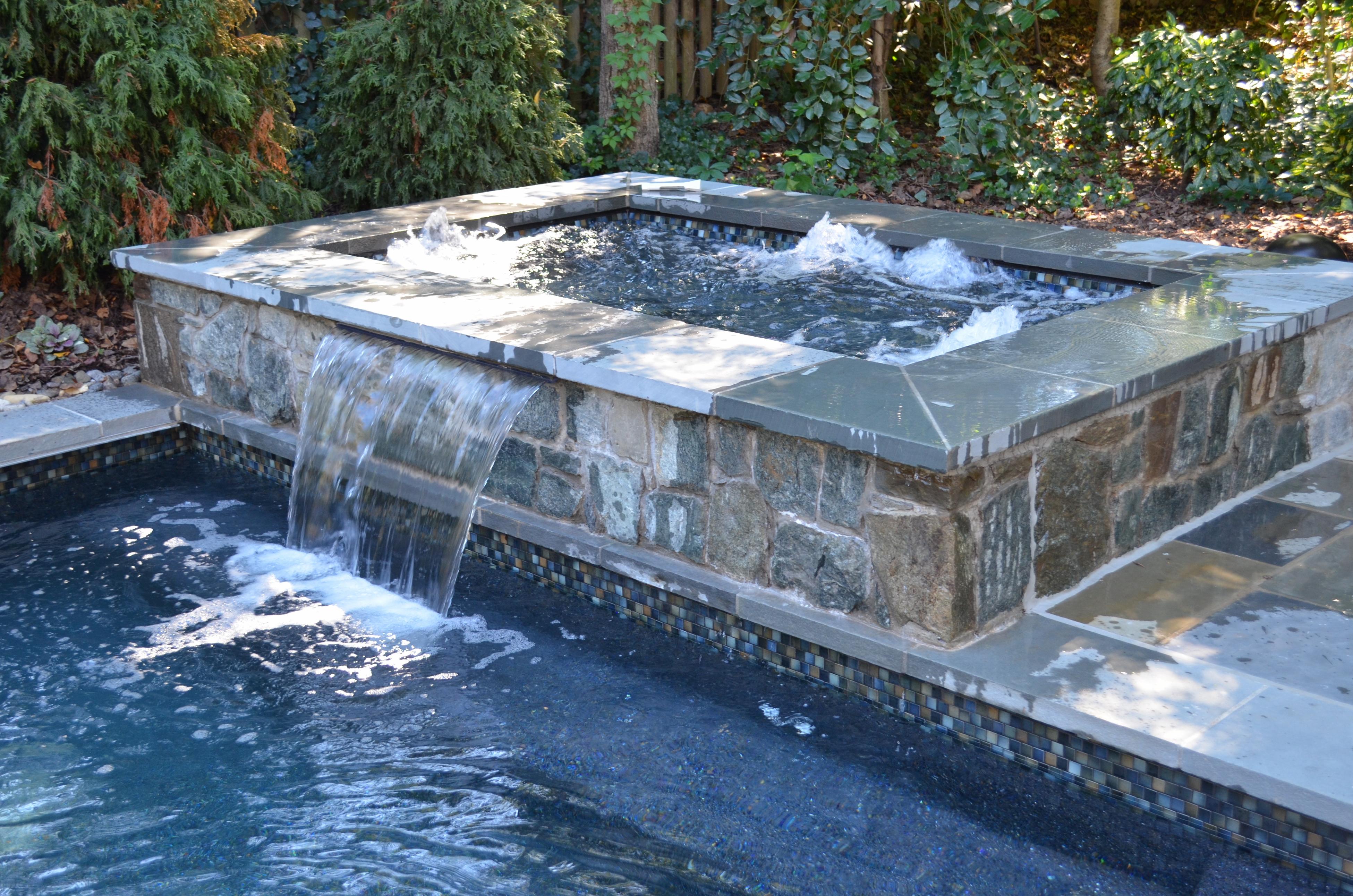 pool water fountain