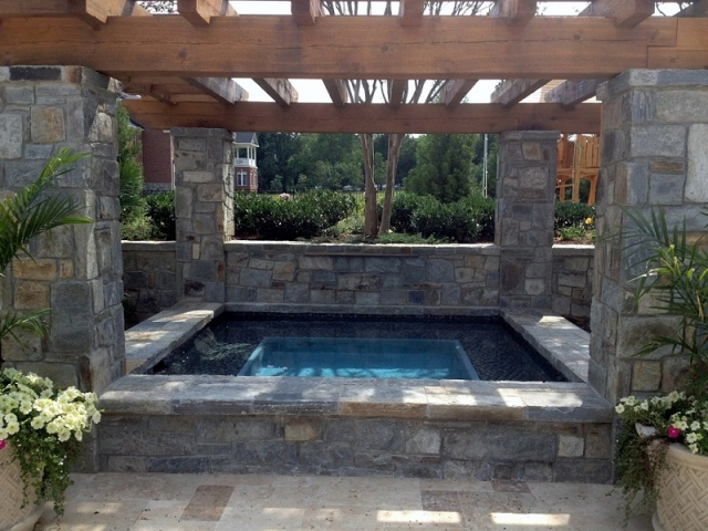 Detached Raised Spa- Pebble Fina, Bela Blue, Vienna, Virginia