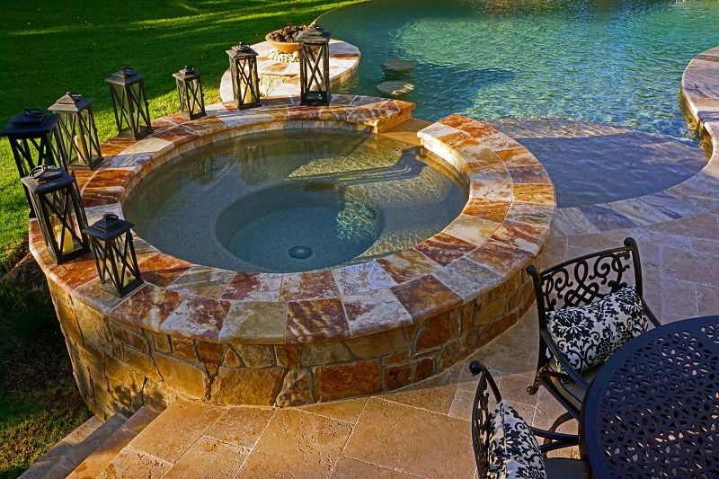 Raised Spa with Waterfall- Haymarket, Virginia