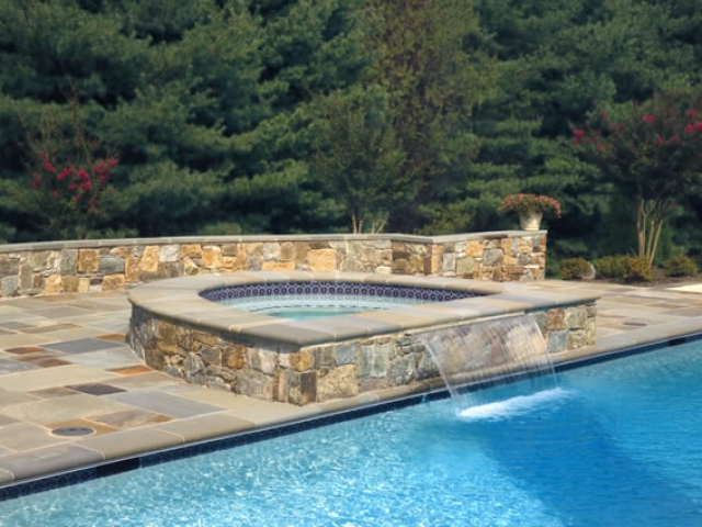 Detached Raised Spa with Waterfalls-Maryland