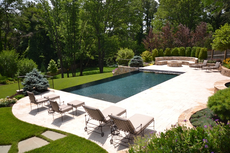 Vanishing edge pool gallery town and country pools for Pool design virginia