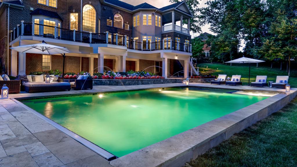 rectangle inground pool