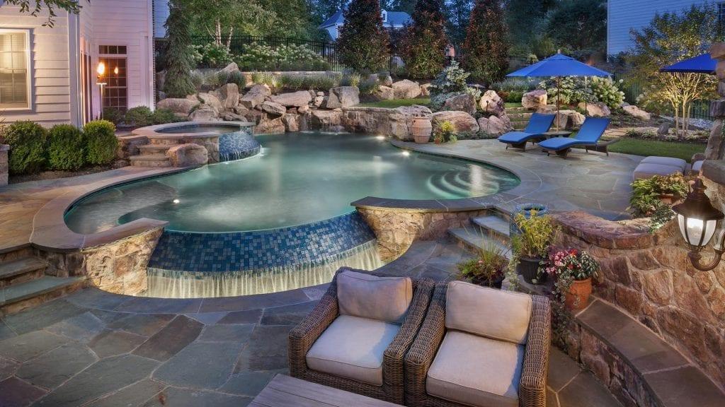 luxury custom inground swimming pool